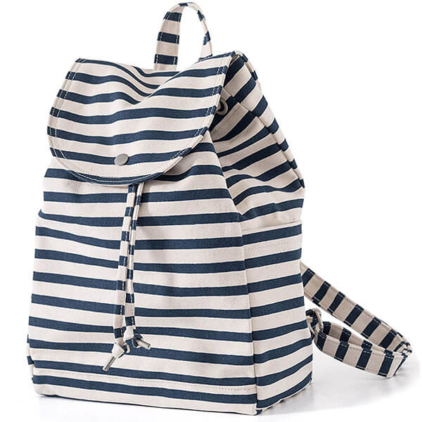 Durable and Stylish Striped Canvas Backpack