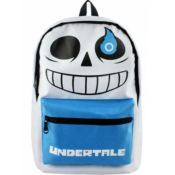 Cartoon Printing Canvas Sans Undertale Backpack