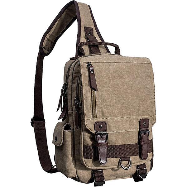 Multi-Color Vintage Canvas Backpack