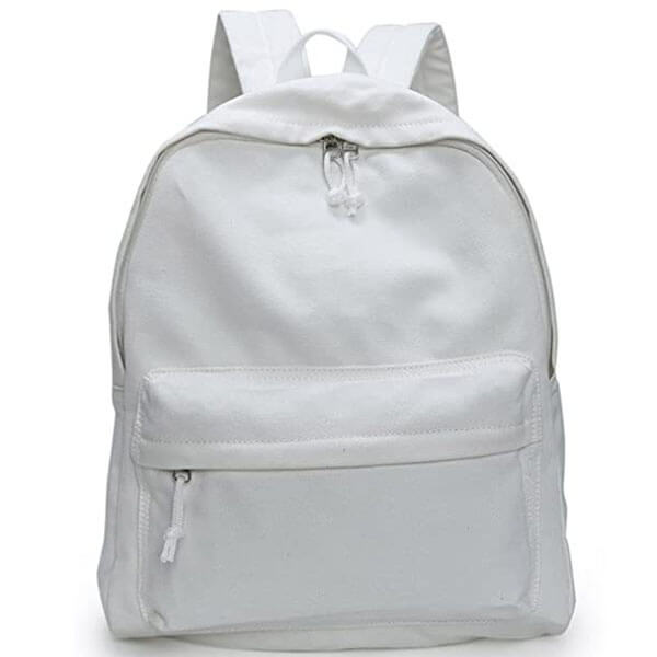 Personalized DIY Canvas Solid Color Backpack