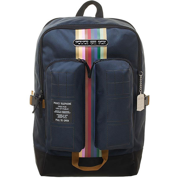 Tardis Doctor Who Backpack with Double Pocket