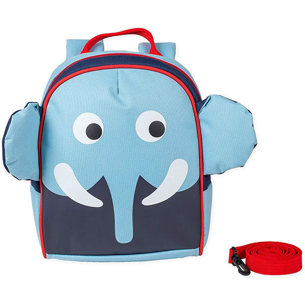 Water-Resistant Baby Blue Elephant Backpack