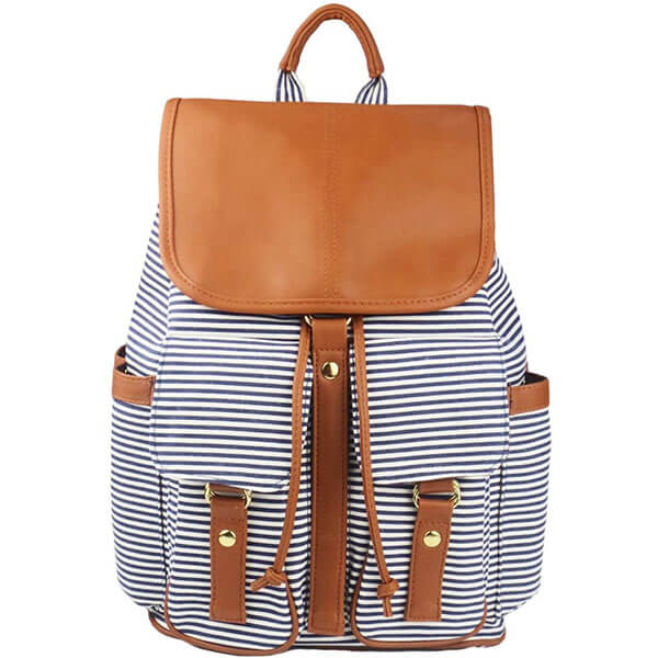 Women Causal Striped Backpack