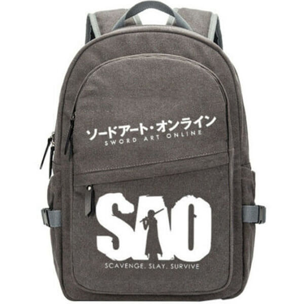 Canvas Sword Art Online Gray Laptop Backpack
