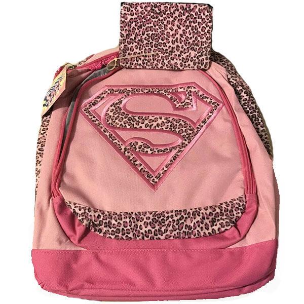 Cheetah Print Supergirl Logo Backpack