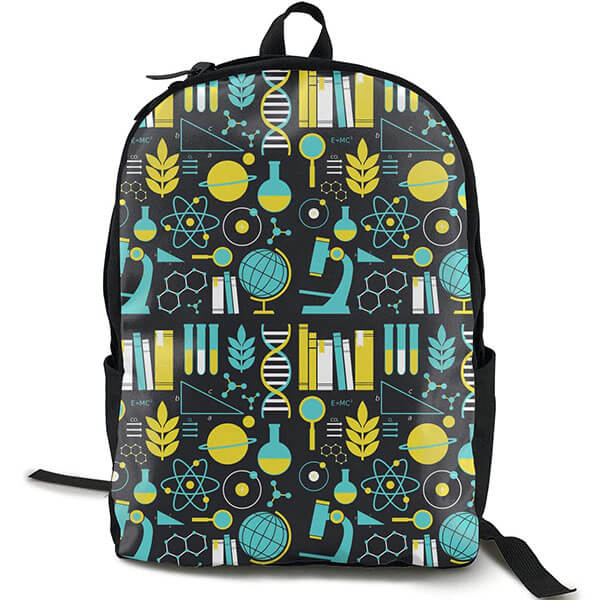 Ergonomic School Backpack with Science Theme