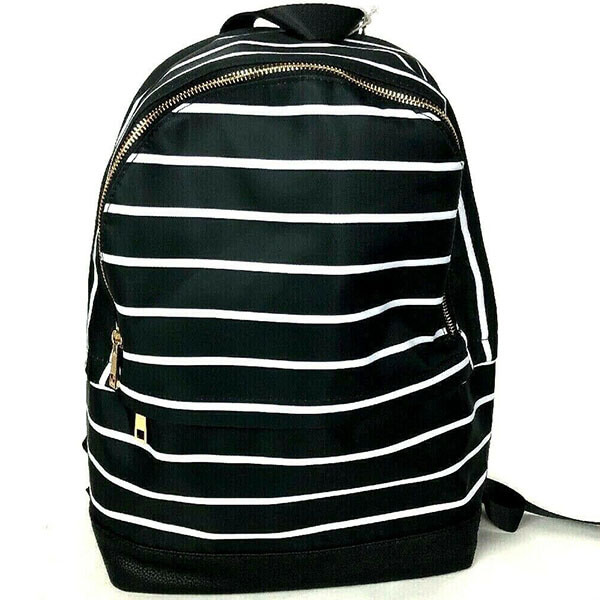 Fashionable Black and White Stripe Backpack