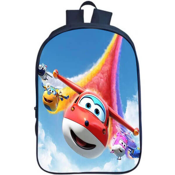 Printed Super Wings Design School Backpack