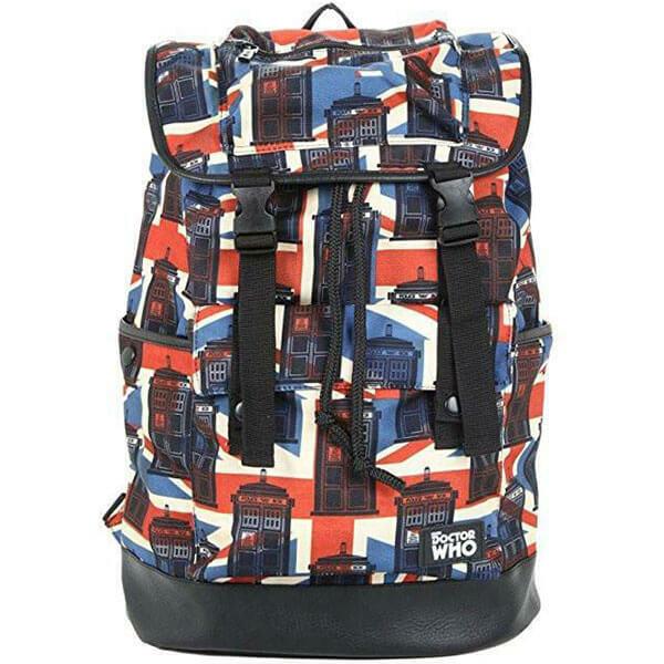 Union Jack Tardis Slouch Cotton Backpack