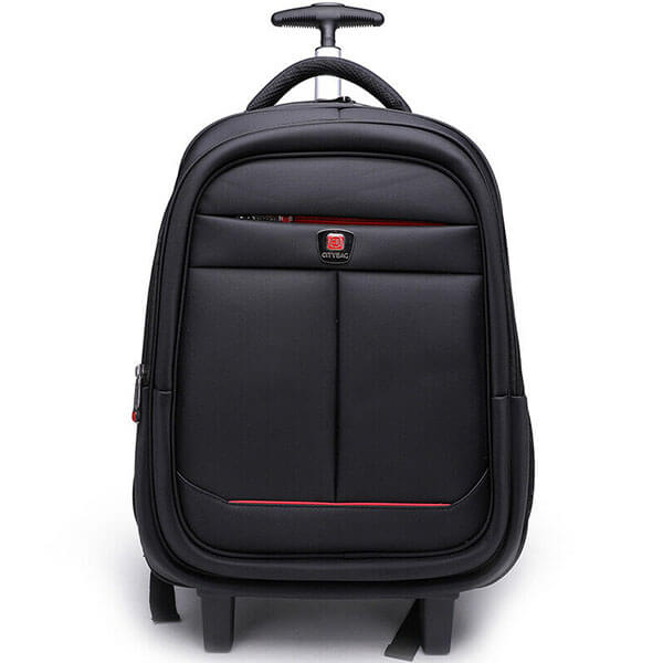 Black Color Adults Laptop Backpack on Wheels