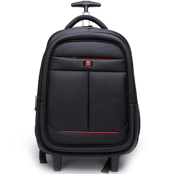 Black Color Adults Laptop Backpack on Wheels