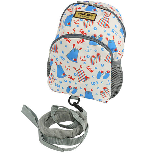 Colorful Sea Backpack with Detachable Leash