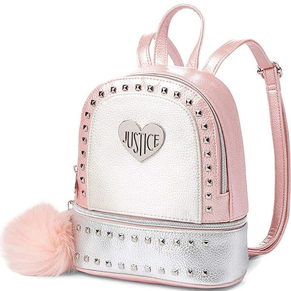 Girls Mini Backpack with Cute Pompom