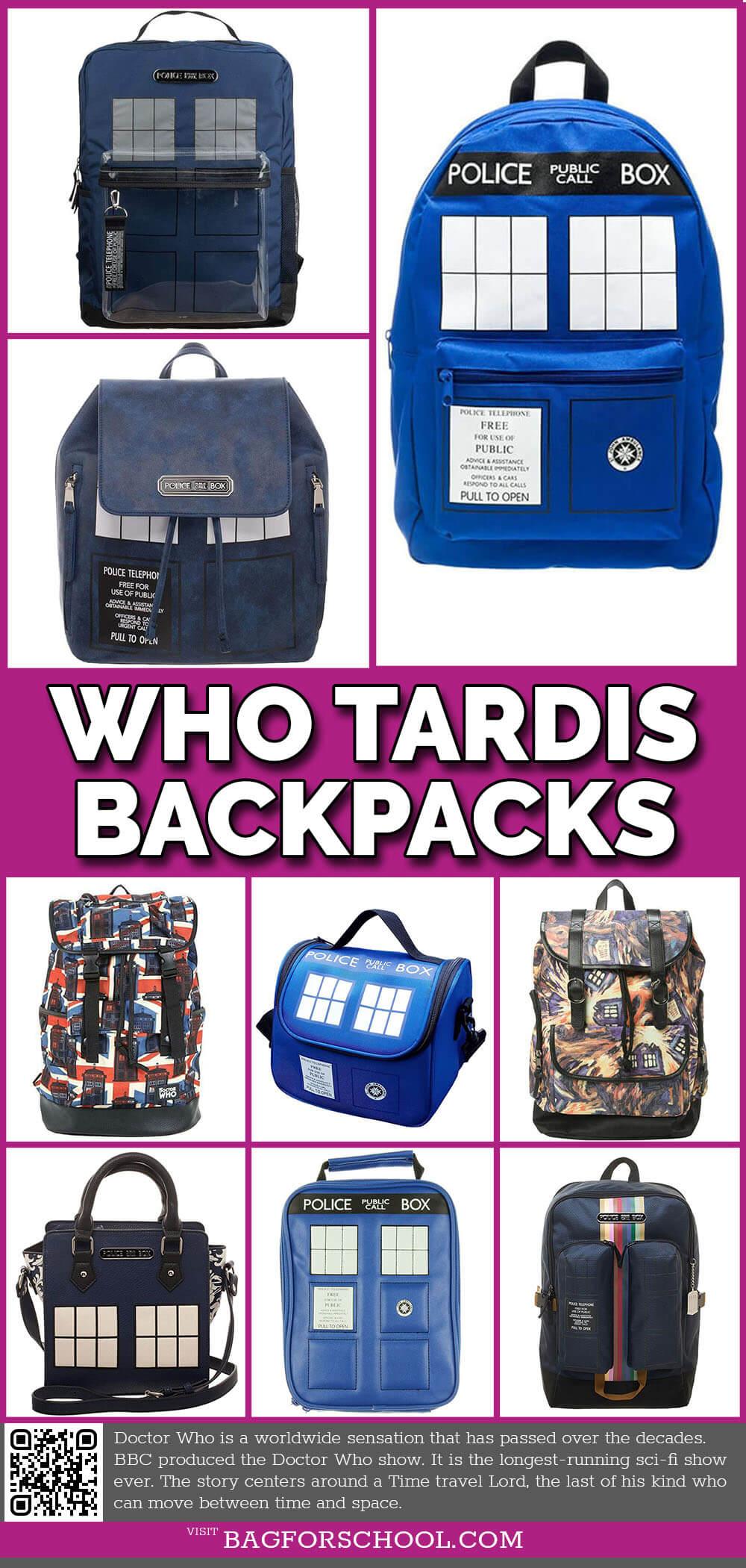 BBC Doctor Who Tardis Bag and Backpacks